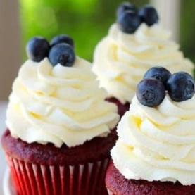 cupcake frutos rojos